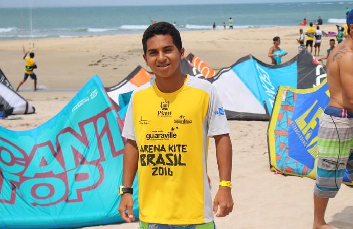 Polegar no Campeonato Brasileiro de Kitesurfe 2016 (Foto: Wenner Tito )