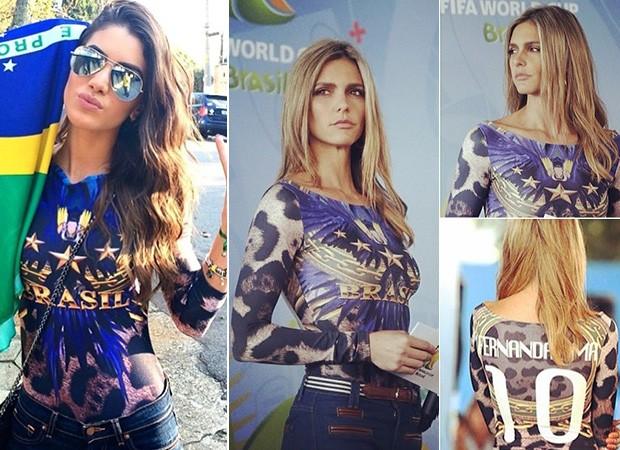 [MODA] Moletom da Copa - Camila Coelho e Fernanda Lima (Foto: Instagram / Reprodução)