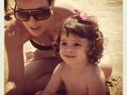 Fernanda Pontes curte praia com a filha: 'Feriado no Paraíso'