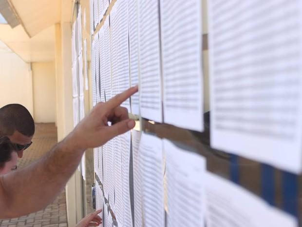 Número de faltantes no primeiro dia do vestibular 2016 da Unioeste chegou a 2.428, o equivalente a 17,85% dos 13.523 inscritos (Foto: Victor Hugo Junior / Unioeste / Divulgação)