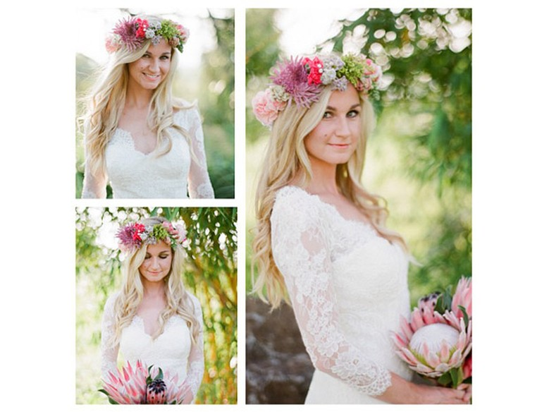 Coroa De Flores Nos Cabelos é Tendência Para O Look De Noiva