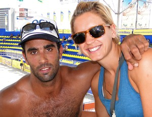 Laura Ludwig e Pedro Solberg vôlei de praia (Foto: Helena Rebello / Globoesporte.com)