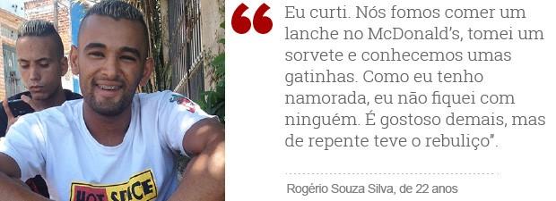 Rolezinho_rogerio_frase (Foto: Editoria de Arte/G1)