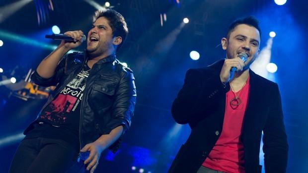 Dupla Jorge e Mateus canta no principal palco da Festa do Peão de Barretos 2012 (Foto: Flavio Moraes/G1)
