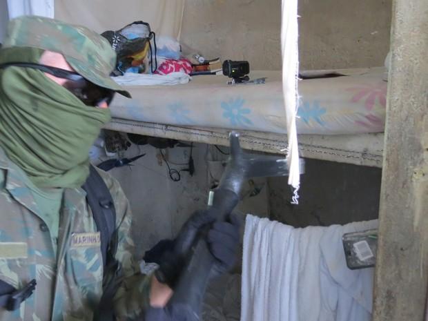 Operação Varredura atuou na Cadeia Pública de Mossoró nesta quarta (15) (Foto: Divulgação/Marinha do Brasil)
