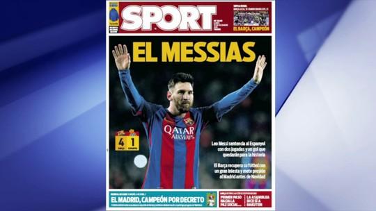 """Com """"decreto"""" e """"ajuda"""": jornais de Barcelona criticam título do rival Real"""