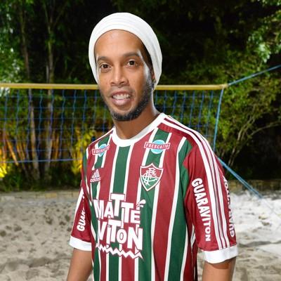 Ronaldinho Gaúcho camisa Fluminense (Foto: Alexandre Vidal / Agência FotoBR)
