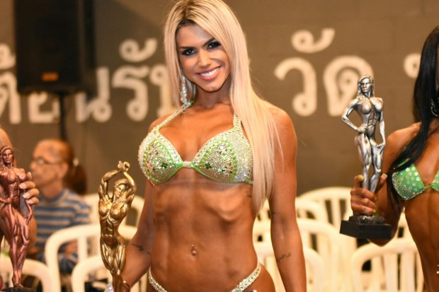 Janaina Santucci vence categoria em concurso fitness (Foto: Vagner Souza / MF Models Assessoria )