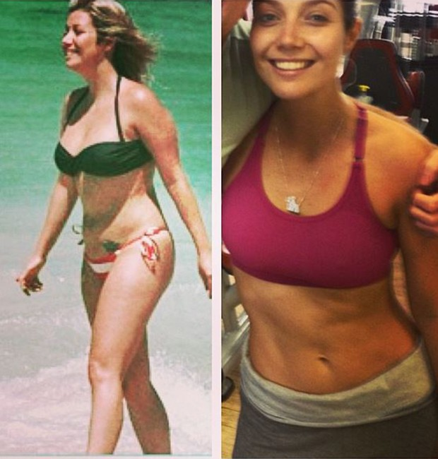 Luiza Possi antes e depois (Foto: Arquivo Pessoal)