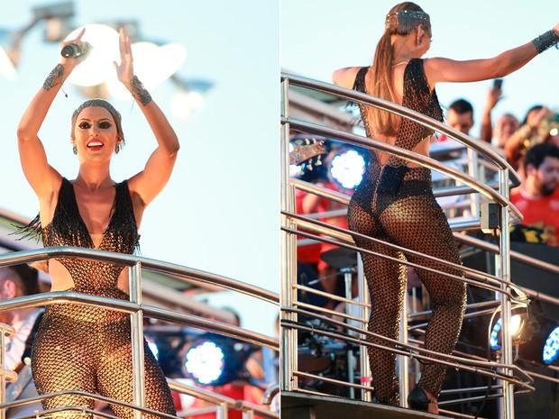 Vina Calmon, vocalista do Cheiro de Amor, aparece com look sensual (Foto: Mauro Zaniboni /Ag Haack)