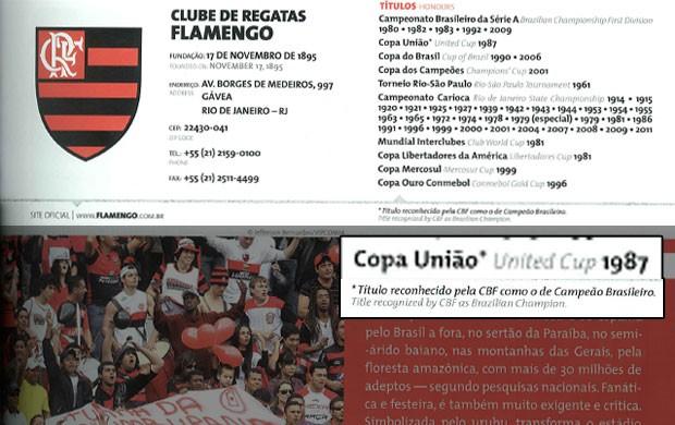guia do Campeonato Brasileiro CBF Flamengo 1987 (Foto: Reprodução)