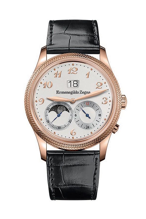 O relógio da Zegna em parceria com a Girard Perregaux (Foto: Divulgação)