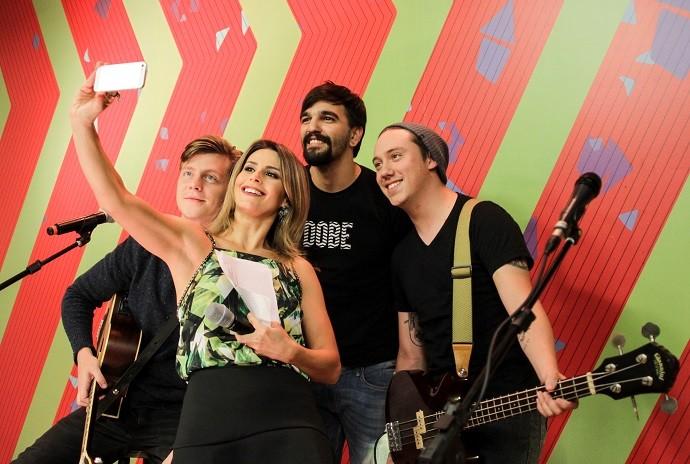 Os brasilienses da Scalene vão encher o seu sábado de música boa! (Foto: Bruno Vaz/RPC)