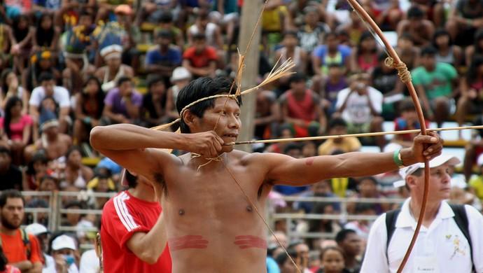 Arco e flecha deve ser uma das modalidades disputadas nos Jogos Mundiais Indígenas de Palmas (Foto: Emerson Silva/ATN)