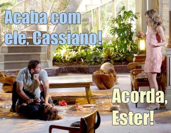 É isso aí, Cassiano! Esse Alberto merece! (Foto: Malhação / TV Globo)