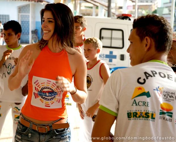 O clima foi de muita alegria (Foto: Domingão do Faustão / TV Globo)
