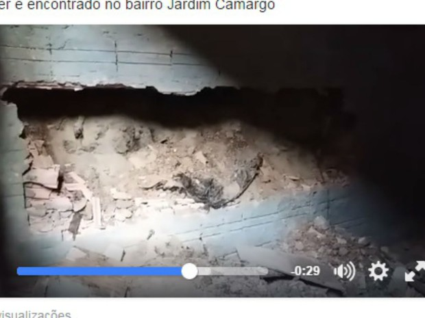 Local onde foi encontrado o corpo enterrado no concreto (Foto: Reprodução/Facebook)