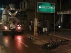 Homem morre ao colidir com caminhão betoneira em Cacoal, RO