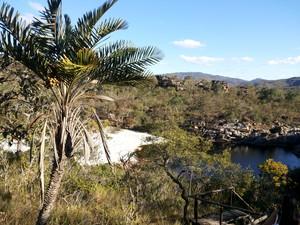 Vista da chegada na Toca do Veado (Foto: Pedro Costa)