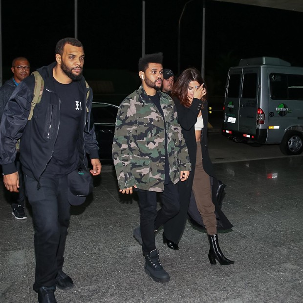 The Weeknd e Selena Gomez (Foto: Raphael Castello/AgNews)