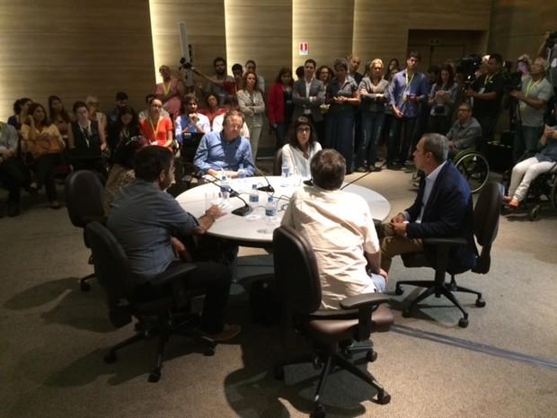 Reunião deu detalhes sobre orçamento das cerimônias das Olimpíadas de 2016 (Foto: Cristina Boeckel/ G1)
