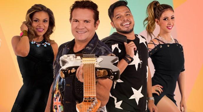 XCalypso agora tem trio de vocalistas, alm de Chimbinha (Foto: Divulgao)