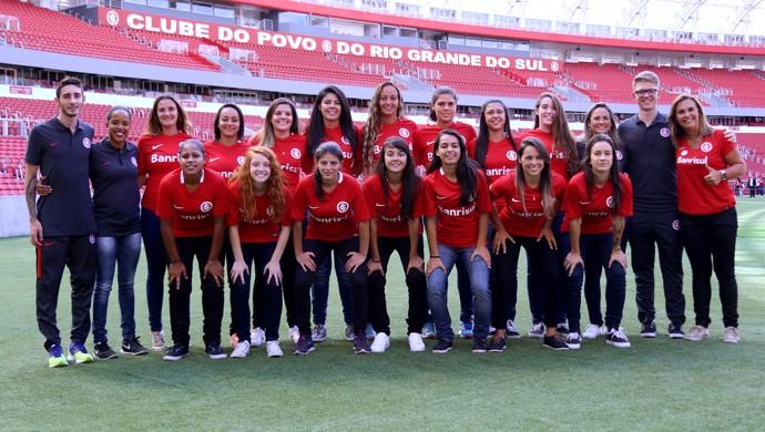 Inter apresentação futebol feminino (Foto: Mariana Capra / Internacional)