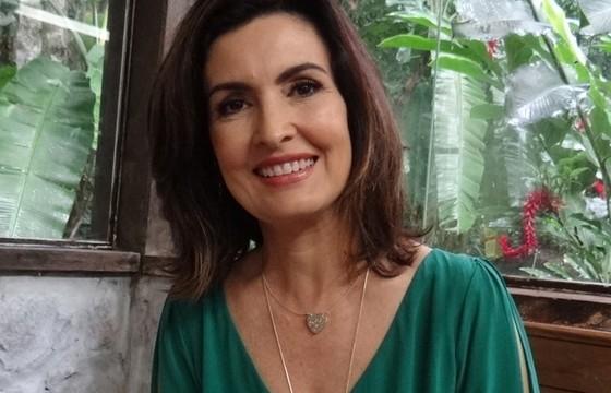 Fátima Bernardes nos bastidores do Mais Você (Foto: Mais Você / TV Globo)