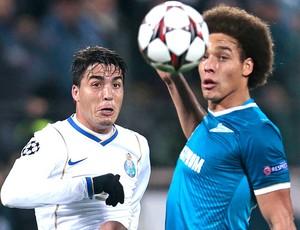 Josue e Witse Porto e Zenit (Foto: Agência AP)
