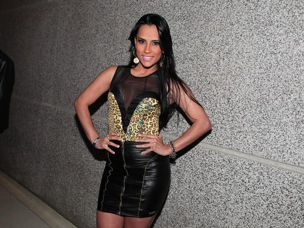 Ex-BBB Kelly em gravação de DVD do Naldo em São Paulo (Foto: Manuela Scarpa/ Foto Rio News)
