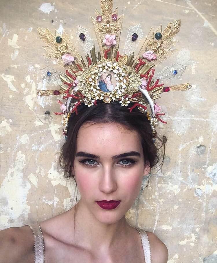 Beleza do desfile de alta moda da Dolce&Gabbana (Foto: Vogue Brasil)