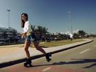Jessika Alves mostra um de seus hobbies preferidos para o EGO: andar de patins
