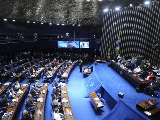 Plenário do Senado durante sessão nesta quinta (11) (Foto: Pedro França/Agência Senado)