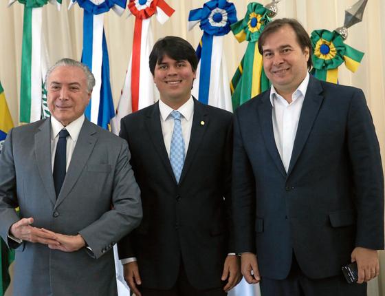 Michel Temer,André Fufuca e Rodrigo Maia (Foto:  Antonio Cruz/Agência Brasil)