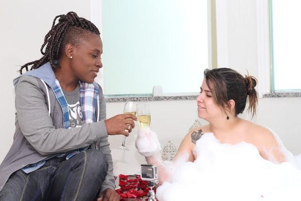 Thaís Baptista e Neném na véspera do casamento (Foto: Mateo Neto e Daniela Loyola/Divulgação)