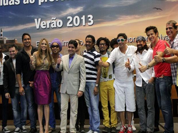 Prefeito eleito se encontra com artistas do axé (Foto: Ida Sandes/G1 BA)