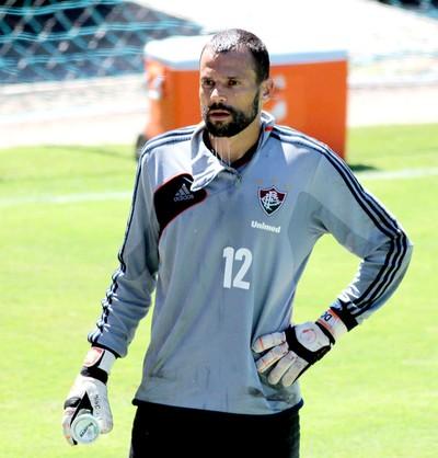 Diego Cavalieri no treino do Fluminense (Foto: Fernando Cazaes / Photocamera)