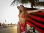 Sem título, musa do Flamengo comemora vaga na Libertadores