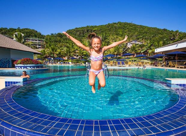 As piscinas do Infinity Blue são uma diversão para as crianças (Foto: Divulgação)