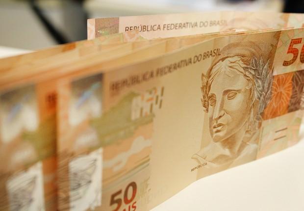 Real ; dinheiro ; moeda brasileira ; notas de real ; câmbio  (Foto: Marcos Santos/USP Imagens)