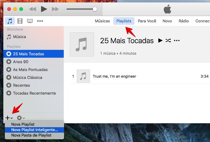 Acesse as suas playlists no iTunes (Foto: Reprodução/Helito Bijora)