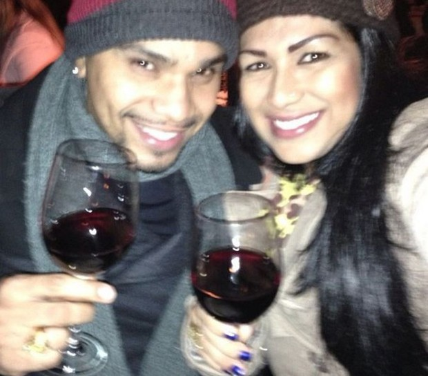 Naldo e Moranguinho: inverno e vinho, combinação perfeita (Foto: Reprodução/Instagram)