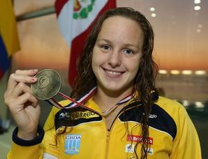 Carol Bilich, da natação, no Sul-Americano Juvenil 2013 (Foto: Satiro Sodre/SSPress)