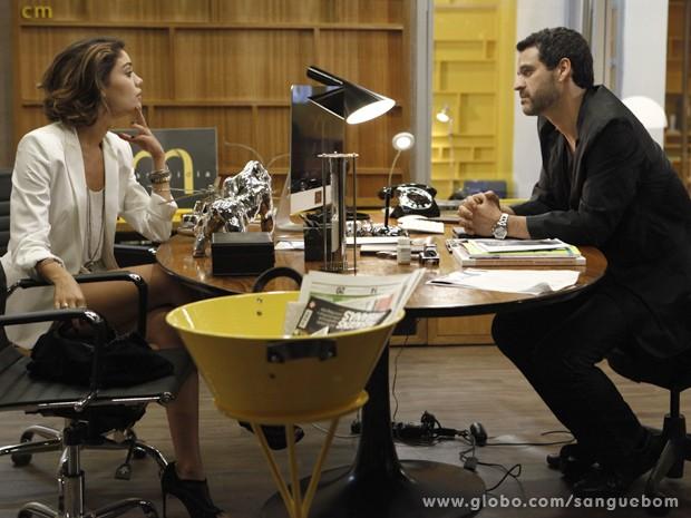 Amora convence Natan a investir na carreira de cineasta (Foto: Sangue Bom/TV Globo)