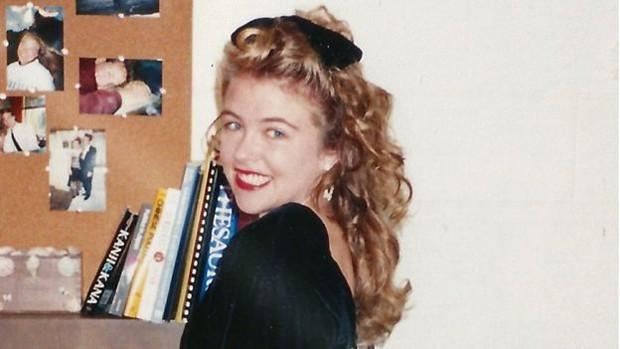 Katie Koestner na época em que entrou na universidade (Foto: KATIE KOESTNER)