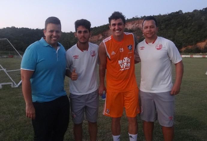 Vinicius Fluminense Náutico (Foto: Daniel Gomes / GloboEsporte.com)