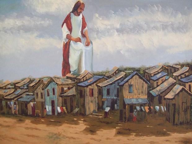 Pinturas de João Machado retratam a realidade brasileira e são expostas em Petrópolis (Foto: Divulgação/FCTP)
