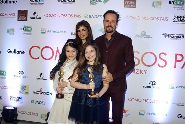Maria Ribeiro, Paulinho Vilhena, Sophia Valverde e Annalara Prates (Foto: Thiago Duran/AgNews )