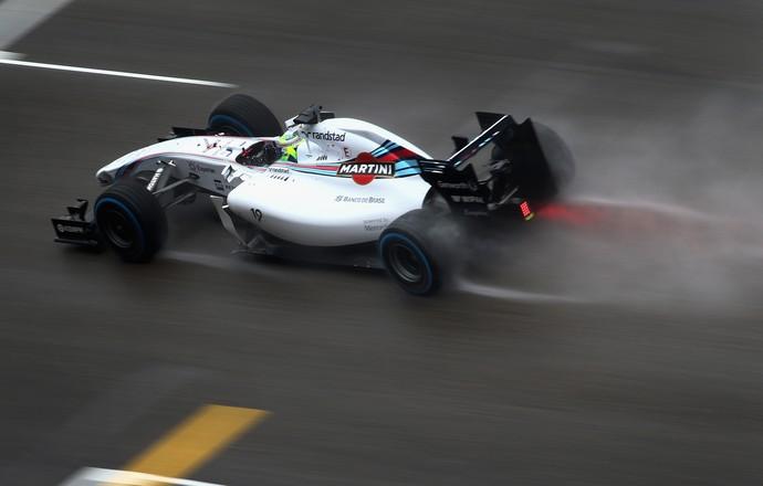 Williams de Felipe Massa apresentou evolução na pista molhada no treino classificatório para GP da China (Foto: Getty Images)