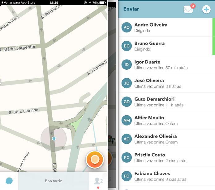 Waze recebeu importante update para o iOS (Foto: Reprodução/Aline Jesus)
